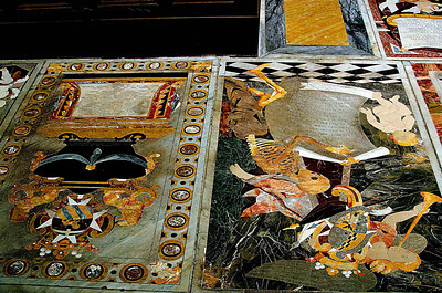 Inlaid Marble Tomb-stones of the Knights.  Copy this link for more information http://www.stjohnscocathedral.com/inlaid-marble-tombs.html