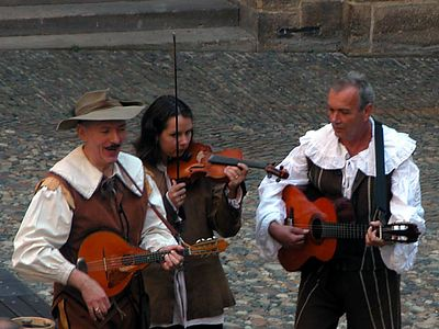 Entertainers in the Prague Castle