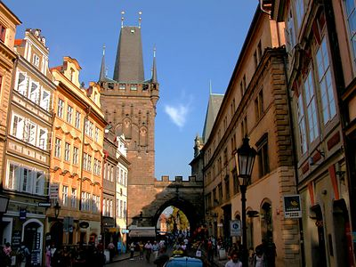 One of many beautiful streets in Prague's Old Town