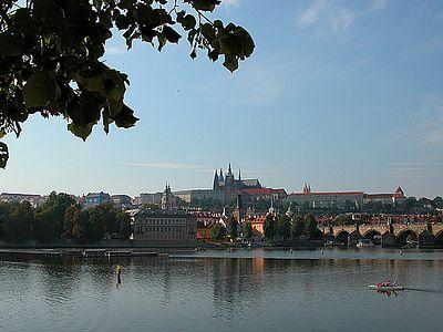 Prague Castle viewed from Charles Bridge