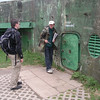The entrance to one of the bunkers. They were all locked up and entrance was only allowed in company of the guides.
