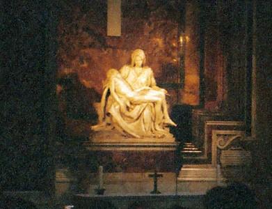 Michelangelo's Pieta, St Peter's Basilica, Rome