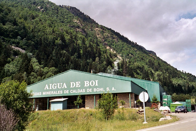 Aigua de cow poo. We saw cows pooing in the water upstream of this bottling plant.