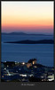 Mykonos, sunset from hotel room at Vencia
