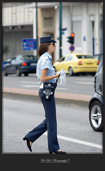 Athens, policewoman