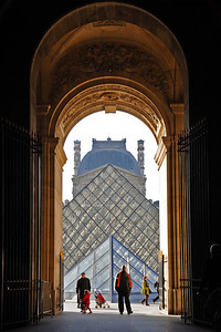 Pyramide du Louvre November in Paris - 2010