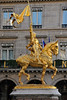 Joan d'Arc - by Emmanuel Fremiet<br /> Place des Pyramides<br /> November in Paris - 2010