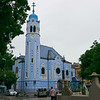 The blue church.