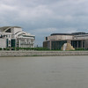 Some of the new buildings outside of downtown Budapest.