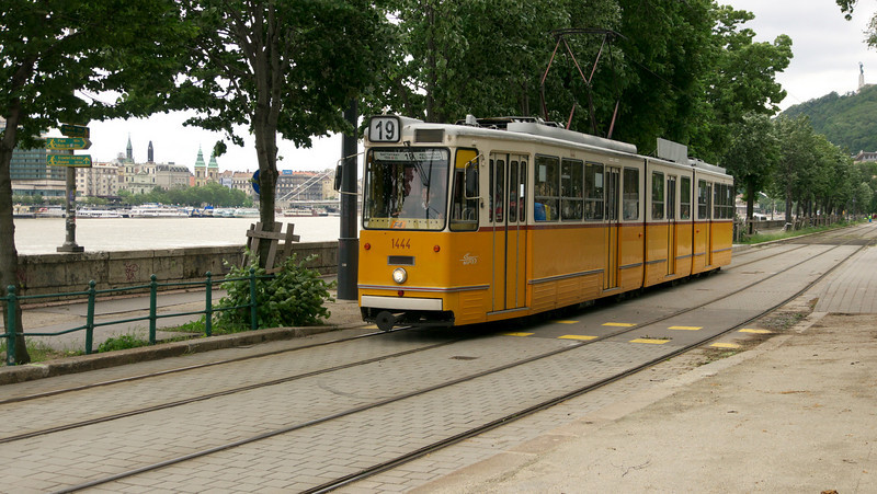 A Budapest tram.