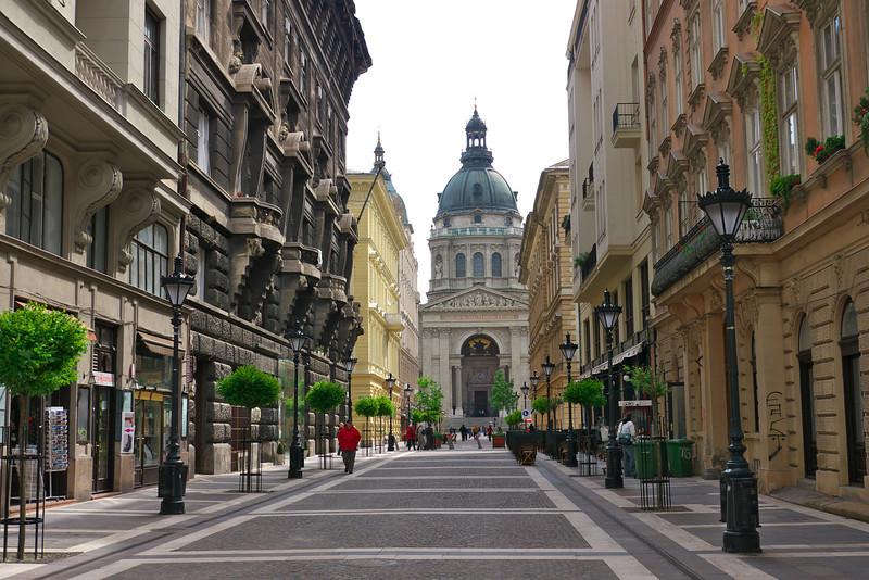 Pedestrian street leading to St. Stephen's