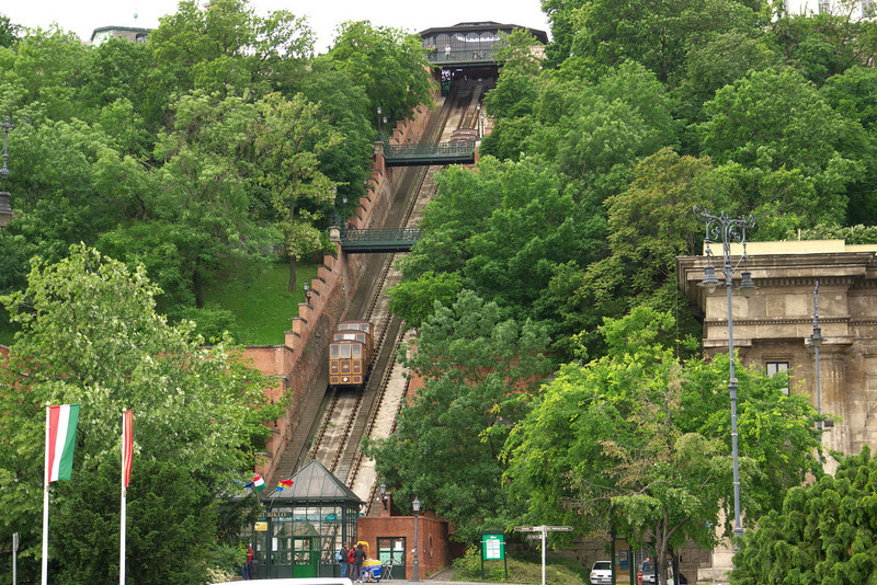 The funicular to Buda Castle.