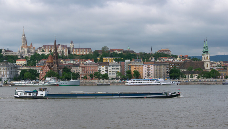 Normal shipping activity on the Danube.