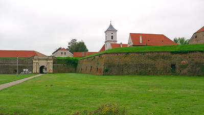 The walled fortress (Tvrđa) around the old town in Osijek