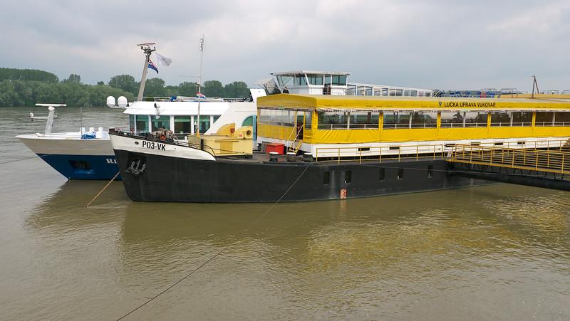 The River Duchess docked in Vukovar.