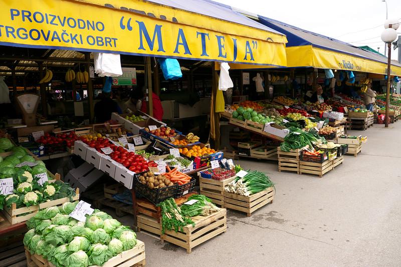 Outdoor Market in Vukovar