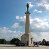 The VIctor Monument. The statue was originally at ground level but the citizenery of the day thought the young ladies would be offended by the sight of a nude warrior so they placed it on a high pedestal.
