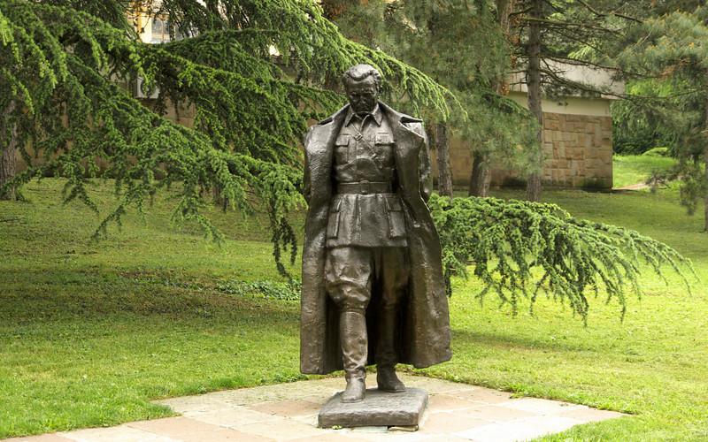 Statue of Tito at the Tito Memorial.