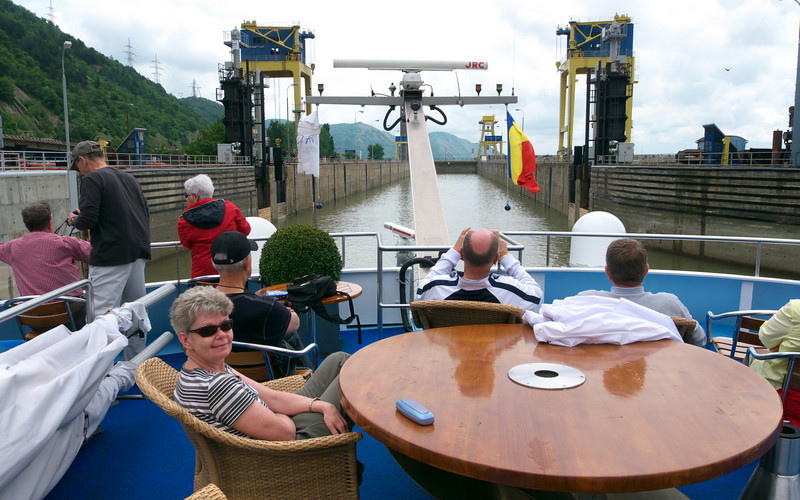 As you can see navigating locks is a spectator sport.