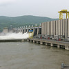 Due to the high water levels in the Danube and the continued rains in the upstream watershed, water was being released through the spillways in addition to the turbines.