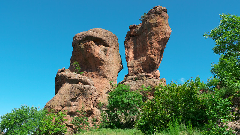 Some of the wind sculpted rock formations.