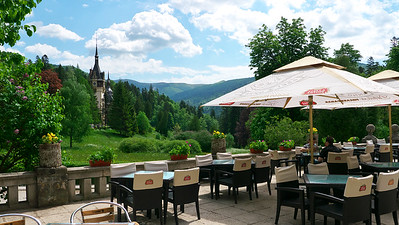View of the castle from the restaurant terrace.