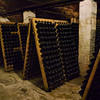 Bottles of champagne in the cellar.