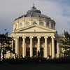 Back in Bucharest and walking to dinner. This concert hall, Romanian Athenaeum, is about five minutes from the hotel and the restaurant is right next to the hall.