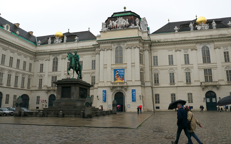 9:00 to 12:30 Vienna city tour. We start at the Austrian National library (the Prunksaal) located in the Hofburg palace. We enter by the rear entrance.