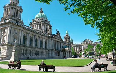 A quiet moment at Belfast City Hall