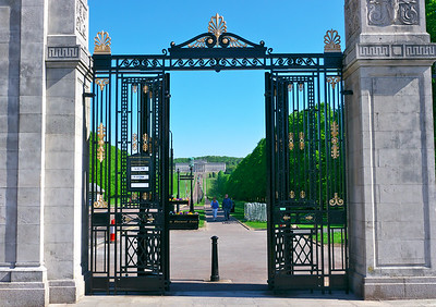 Main gate to the Parliament Buildings