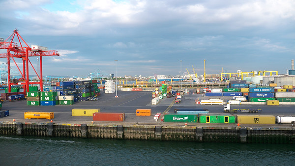 Dublin Port from the ferry