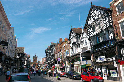 The city of Chester, England