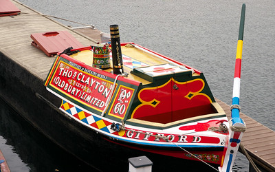 Colourful canal boat