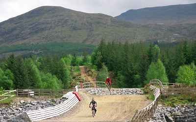 Ben Nevis and mountain bikers