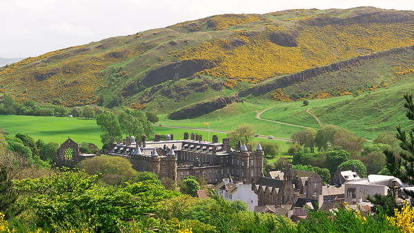Holyrood Park and the Palace of Holyroodhouse
