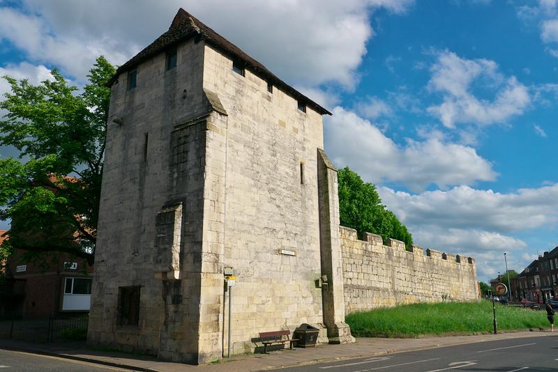 City wall at York
