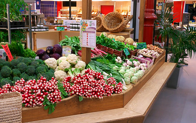 Fresh Vegetables at the Covered Market