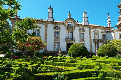 The gardens at the Mateus Palace