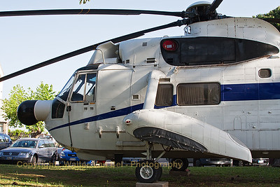 Close-up of Italian Air Force Agusta SH-3D/TS Sea King (MM80972; cn6101), preserved at Rome - Ciampino (CIA / LIRA).