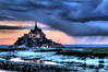 "Abbey of Mont-St-Michel during the ""Blue Hour""<br /> <br /> ~ Image by Martin McKenzie, all rights reserved ~<br />  © copyright digitally watermarked / filigrane numérique copyright ©"