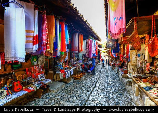 Europe - Albania - Durrës County - Krujë - Kruja - Historical city & one of cultural and historic centers - Kruja bazar - Pazari Krujes