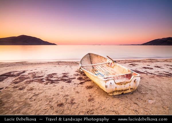 Europe - Albania - Vlorë County - Albanian Riviera - Orikum - Maritime village on coast of Adriatic & Ionian Sea, northernmost arm of Mediterranean Sea