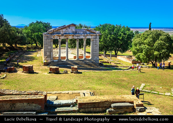Europe - Albania - Apollonia - Apolonia - Ancient Greek city - Archeological park preserved in exceptionally intact condition with Odeon Theater of Apollonia & Agonothetes temple