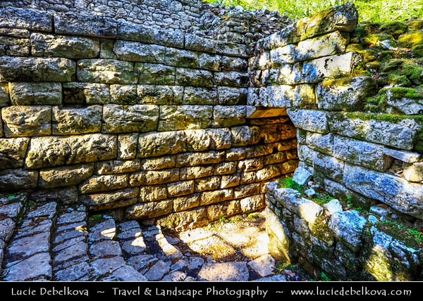 Europe - Albania - Vlorë County - Butrint - Buthrotum - UNESCO World Heritage Site - Ancient Greek Ruined City & archeological site within Butrint National Park - Remains of Lion Gate - Roman part of city