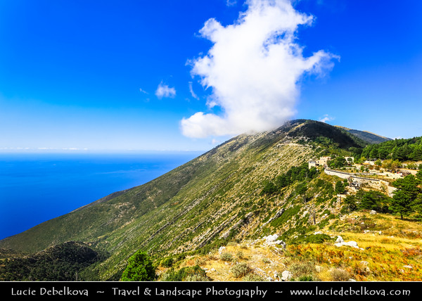 Europe - Albania - Vlorë County - Albanian Riviera - Llogara Pass - High mountain pass within Ceraunian Mountains along Albanian Riviera