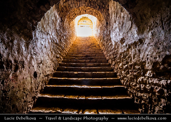 Europe - Albania - Albanian Riviera - Porto Palermo Castle - Kalaja e Porto Palermos - Well preserved castle with triangular plan with round towers in bay of Porto Palermo