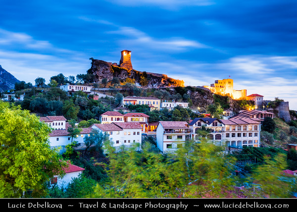 Europe - Albania - Durrës County - Krujë - Kruja - Historical city & one of cultural and historic centers - Kruja castle - Kalaja e Krujës - Historical castle on top of the hill