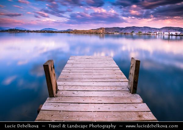 Europe - Albania - Vlorë County - Butrint - Buthrotum - Butrint National Park - Sunset over laguna
