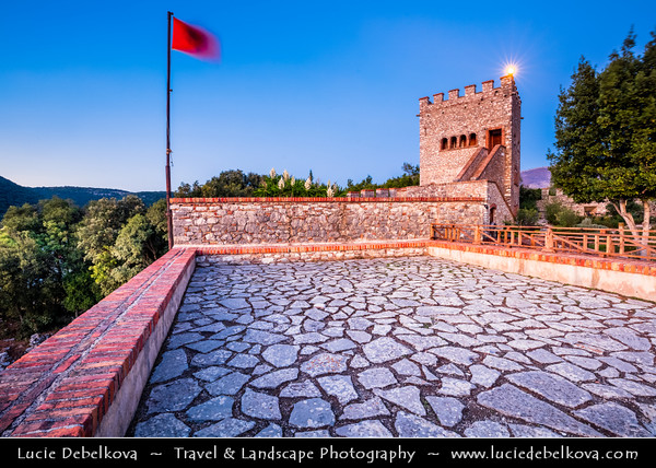 Europe - Albania - Vlorë County - Butrint - Buthrotum - UNESCO World Heritage Site - Ancient Greek Ruined City & archeological site within Butrint National Park - Remains of Venitian Castle
